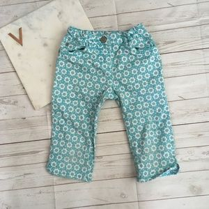 mini boden girls 4y floral printed pants blue cott